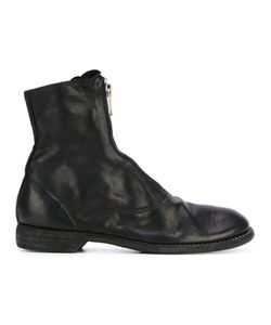 GUIDI | Front Zip Ankle Boots Size 39.5