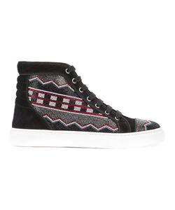 Louis Leeman   Apache Straus Hi-Top Sneakers Size 44 Calf