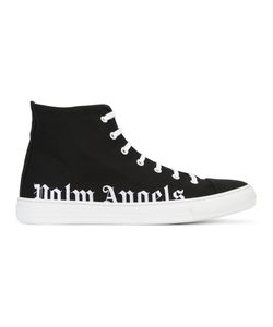PALM ANGELS | Logo Hi-Top Sneakers 44 Cotton/Leather/Rubber