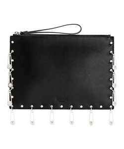 Versus | Pin Embellished Clutch Calf Leather