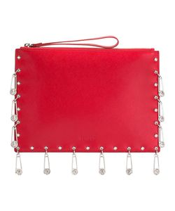 Versus | Pins Embellished Clutch Calf Leather