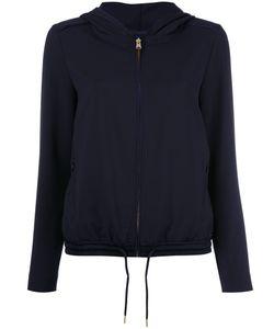 Woolrich | Zip Up Hooded Jacket Large Polyester/Spandex/Elastane