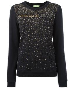 Versace Jeans | Studded Detail Sweatshirt Medium Cotton/Spandex/Elastane