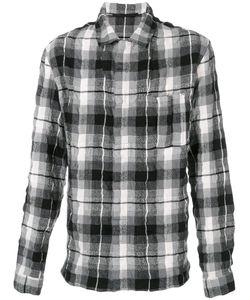 Haider Ackermann   Рубашка В Клетку С Эффектом Помятости