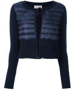 Moncler | Padded Front Cropped Cardigan Large Cotton/Polyamide/Polyimide