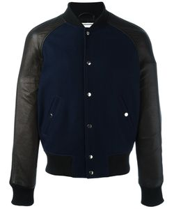 Ami Alexandre Mattiussi | Leather Sleevel Bomber Jacket Medium
