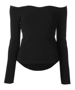 Cedric Charlier | Cédric Charlier Scalloped Boat Neck Knitted Top 44