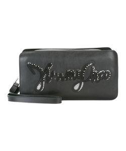 Jimmy Choo | Clyde Logo Wash Bag Calf Leather