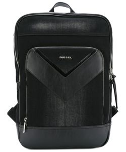 Diesel | Logo Print Backpack Cotton/Leather