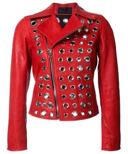 RTA | Embellished Jacket Xs Leather