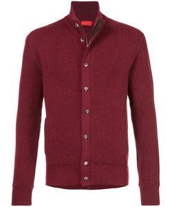 Isaia | Ribbed Cardigan Men S