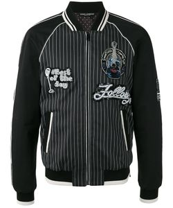 Dolce & Gabbana | Musical Patch Striped Bomber 50