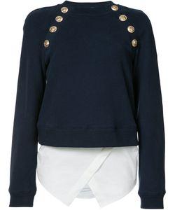 Derek Lam 10 Crosby | Buttoned Sweatshirt Size 0