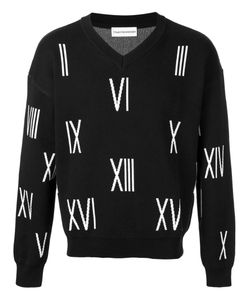GOSHA RUBCHINSKIY | V-Neck Number Sweater Size Small