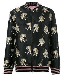 GIAMBA | Tiger Print Bomber Jacket 42 Polyamide/Polyester/Cotton/Cupro
