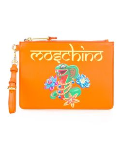 Moschino | Snake Clutch Bag Polyester/Calf Leather