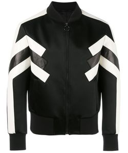 Neil Barrett | Geometric Bomber Jacket Small Leather/Acetate/Polyimide/Polyester
