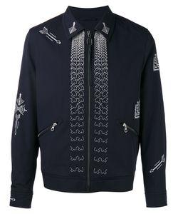Lanvin | Arrow Stitch Zip Jacket 48 Virgin Wool/Viscose/Cotton/Spandex/Elastane