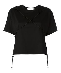 Marios | Front Crossed Elastic T-Shirt Small Cotton