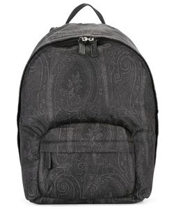 Etro | Tonal Print Backpack Nylon/Calf Leather