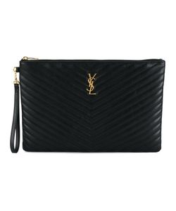 Saint Laurent | Monogram Clutch Leather/Cotton