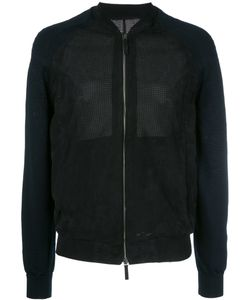 Giorgio Armani | Perforated Bomber Jacket 48 Lamb Skin/Polyamide