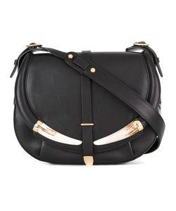 Roberto Cavalli   Flap Shoulder Bag Leather/Cattle Horn