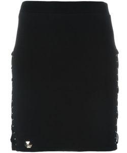 Philipp Plein | Goodbye Mini Skirt Small Spandex/Elastane/Cotton/Silk/Brass