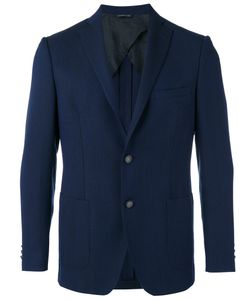 Tonello | Two Button Blazer 52 Silk/Mohair/Wool/Cupro