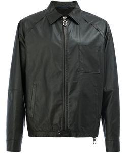 Lanvin | Zip-Up Leather Jacket 50 Cotton/Lamb Skin/Spandex/Elastane