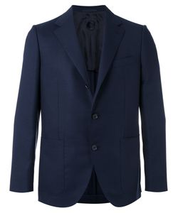 Caruso | Notched Lapel Blazer 50 Wool/Cupro