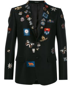 Alexander McQueen | Badge Appliqué Blazer 50 Cotton/Polyester/Silk/Viscose