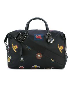 Alexander McQueen | Badge Print Holdall Leather/Nylon