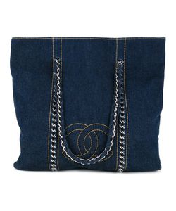 Chanel Vintage | Сумка-Тоут С Цепочкой И Логотипом Cc