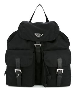 Prada | Logo Plaque Backpack