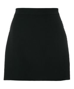 Givenchy | Crystal Trim Mini Skirt 38 Silk/Acetate/Wool