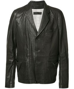 Haider Ackermann | Panelled Jacket Small Cotton/Leather