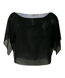 D.exterior | Sheer Cropped Blouse M