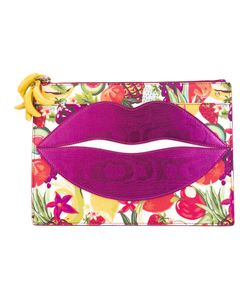 Charlotte Olympia | Pouty Fruit Salad Print Clutch