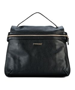 Twin-set | Logo Plaque Backpack Bos Taurus/Polyester