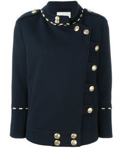 Pierre Balmain | Double Breasted Military Jacket 36 Cotton/Polyamide/Spandex/Elastane/Viscose
