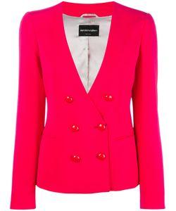 Emporio Armani | Button Up Blazer 42 Viscose/Acetate/Spandex/Elastane/Polyester