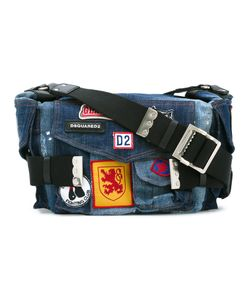 Dsquared2 | Patched Denim Postman Bag