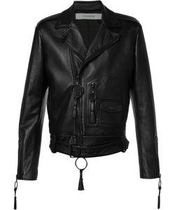 OFF-WHITE | Giorgio De Chirico Biker Jacket Small Viscose/Lamb