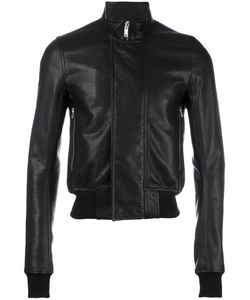 Rick Owens | Cropped Bomber Jacket 50 Calf Leather/Cotton/Viscose/Cupro