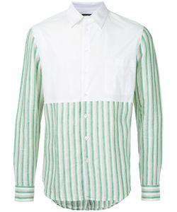 Raf Simons | Рубашка С Контрастной Нагрудной Панелью