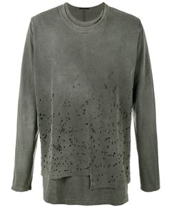 THE VIRIDI-ANNE | Distressed Long Sleeve T-Shirt Size 2