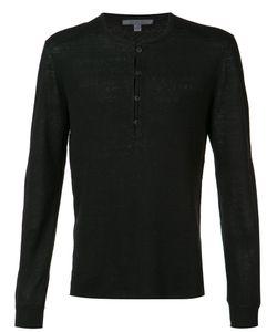 John Varvatos | Reverse Print V-Neck Sweater