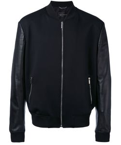 Versace | Leather-Panelled Bomber Jacket