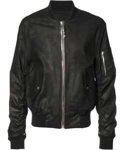 RTA | Chained Zipper Bomber Jacket Large Calf Leather